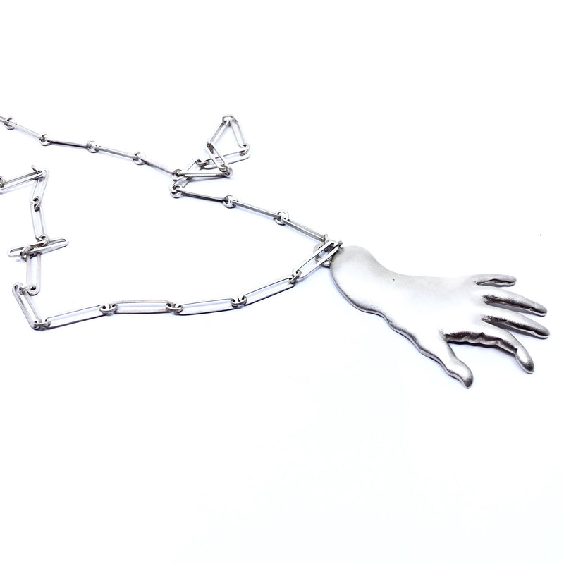 Justine Austen — Silver Hand Necklace - Australian made Jewellery