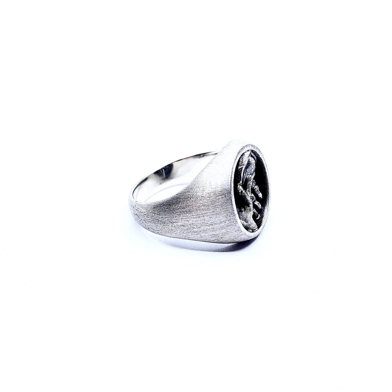 Justine Austen — Silver 'Hands' Ring - Australian made Jewellery
