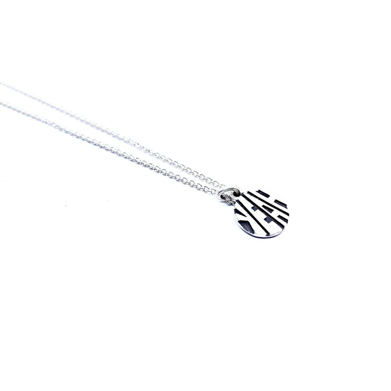 Justine Austen — Silver 'Yeah' Necklace - Australian made Jewellery