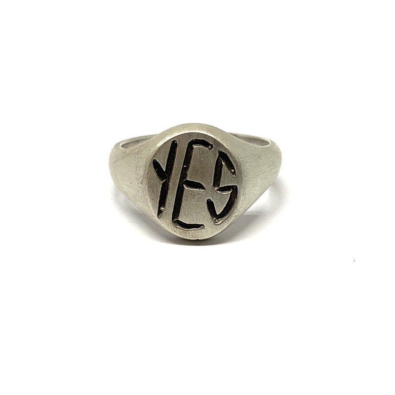 Justine Austen — Silver 'Yes' Ring - Australian made Jewellery