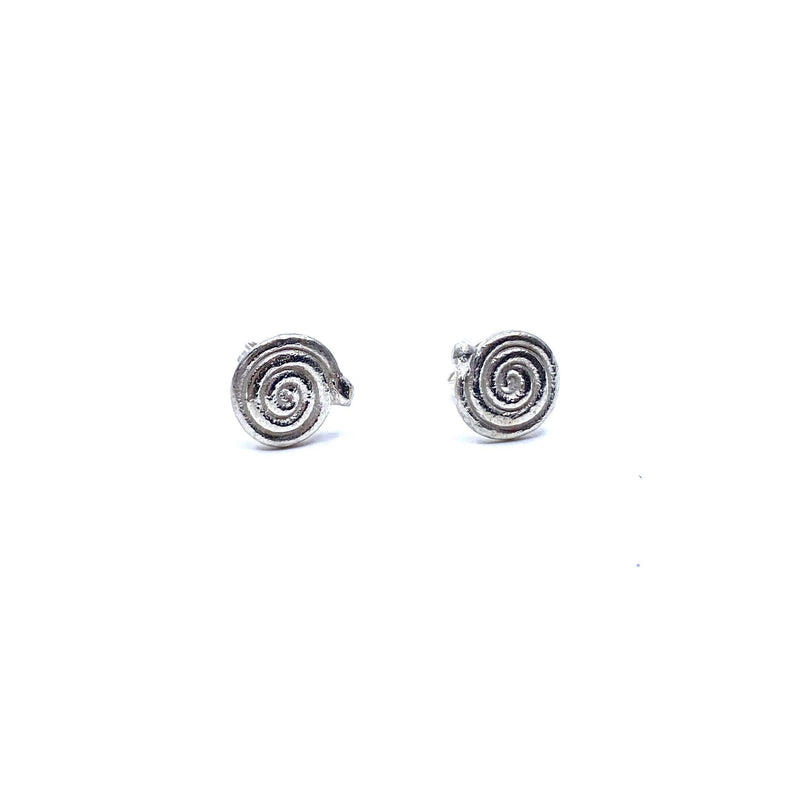 Karla Way — Silver 'Sleepy Snake' Stud Earrings - Australian made Jewellery