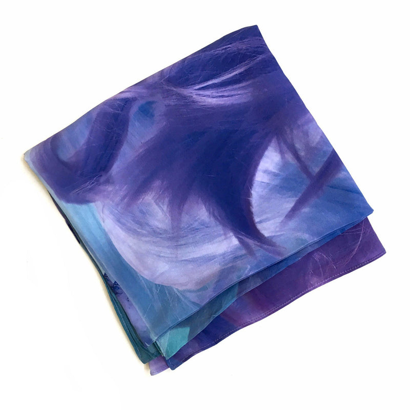 Kate Rohde x Craft — Luminous Realms, Limited Edition 'Hair' Silk Scarf - Australian made Textiles