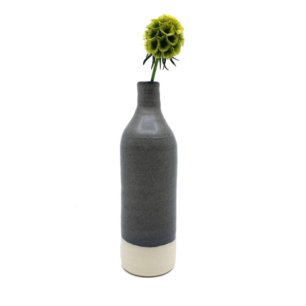 Katherine Mahoney — Dark Grey Stoneware Bottle - Australian made Ceramics