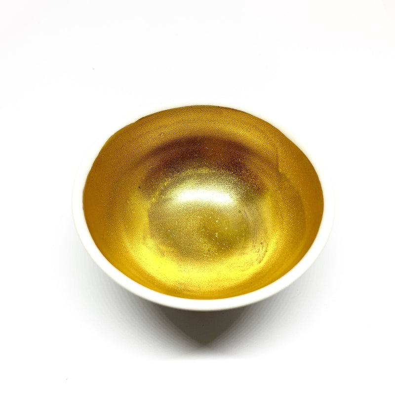 Katherine Mahoney — Porcelain Small Gold Lustre Dish | Tea Light Holder - Australian made ceramics