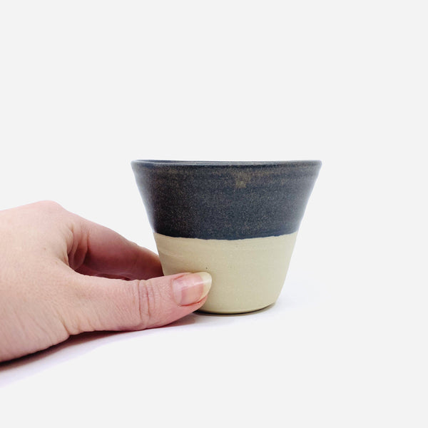 Katherine Mahoney — Stoneware Grey Cup - Australian made Ceramics