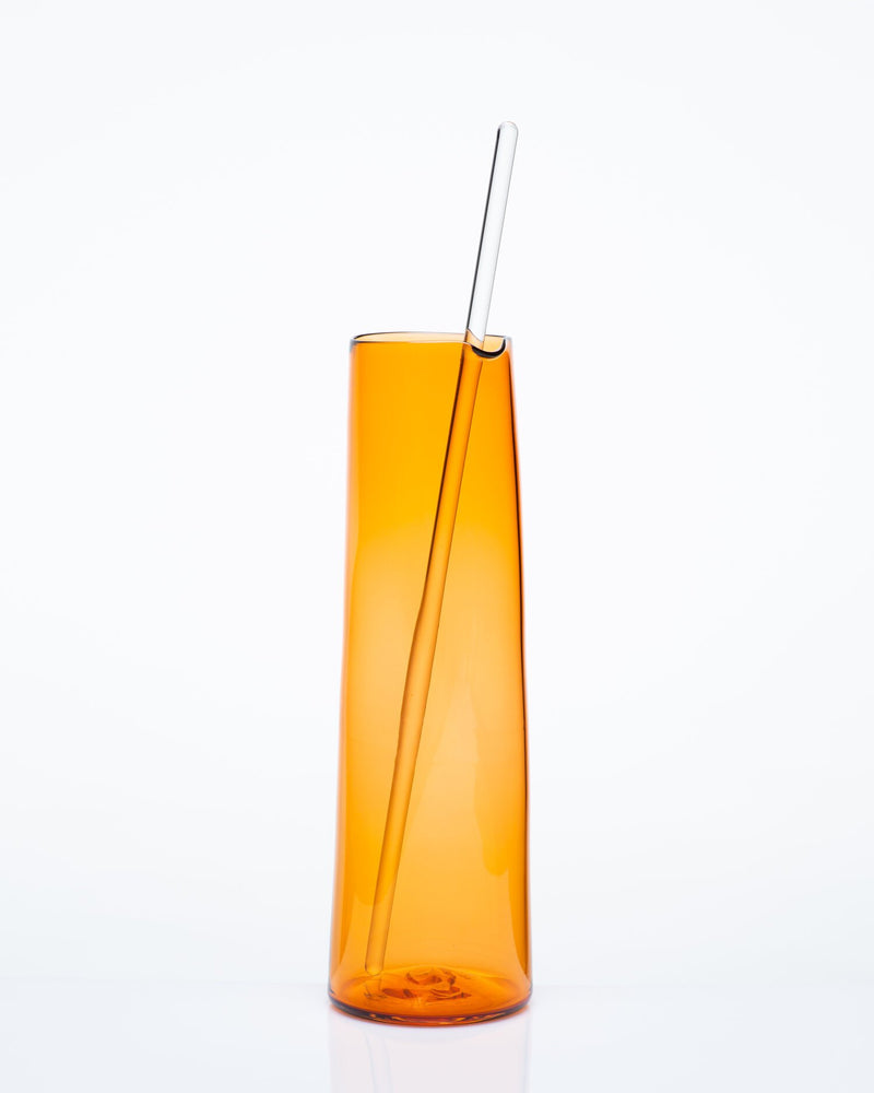 Katie-Ann Houghton — Extra-Large Hand Blown Apricot 'Best Squeeze' Glass Carafe - Australian made Glass