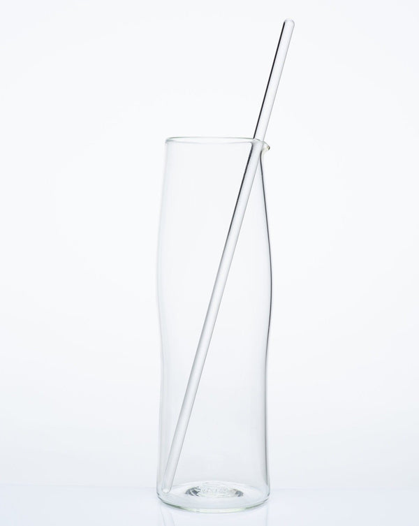 Katie-Ann Houghton — Extra-Large Hand Blown Clear 'Best Squeeze' Glass Carafe - Australian made Glass