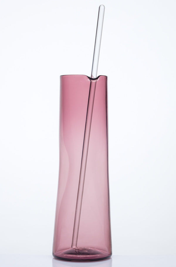 Katie-Ann Houghton — Extra-Large Hand Blown Dusty Pink 'Best Squeeze' Glass Carafe - Australian made Glass