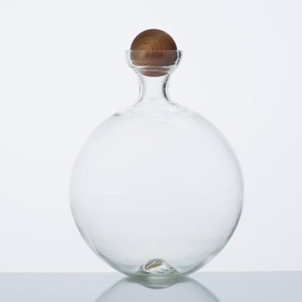 Katie-Ann Houghton — Extra-Large Hand Blown 'Halo' Glass Decanter with Stopper Glass Katie-Ann Houghton | Craft