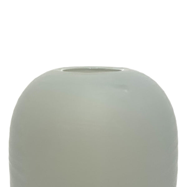 Katie-Ann Houghton — Hand Blown Carved Glass Vase in Grey Glass Katie-Ann Houghton | Craft