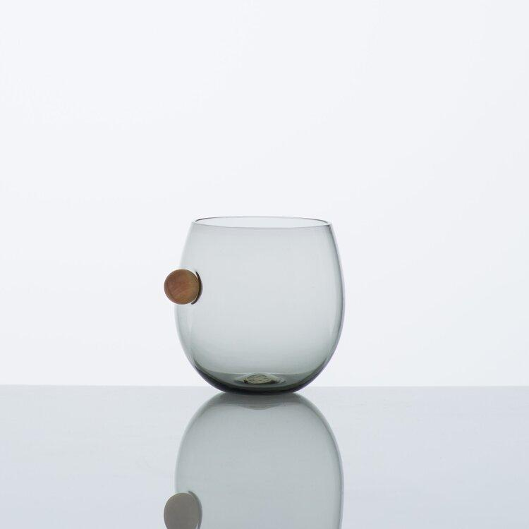 Katie-Ann Houghton — Hand Blown Smoke Grey 'Halo' Drinking Glass Glass Katie-Ann Houghton | Craft