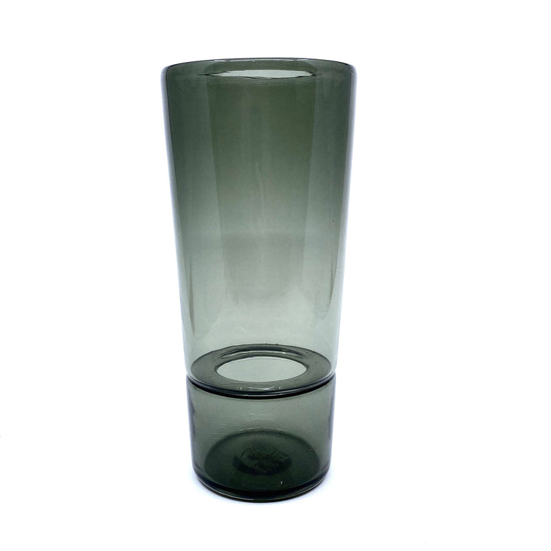 Katie-Ann Houghton — Hand Blown Smoke Grey 'Wrangler' Glass Vase - Australian made Glass