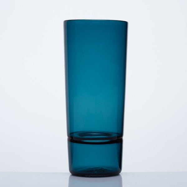 Katie-Ann Houghton — Hand Blown Teal 'Wrangler' Glass Vase - Australian made Glass