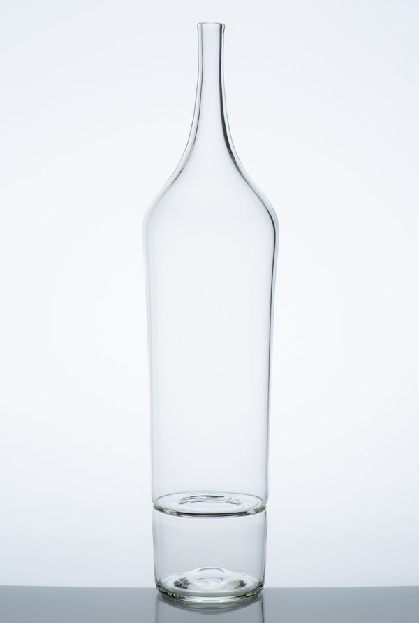 Katie-Ann Houghton — Large Clear 'Drop Bottle' Sculpture | Vase - Australian made Glass