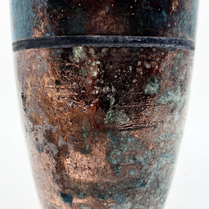 Kaye Poulton — Horizon Line Raku Fired Sculpture - Australian made Ceramics