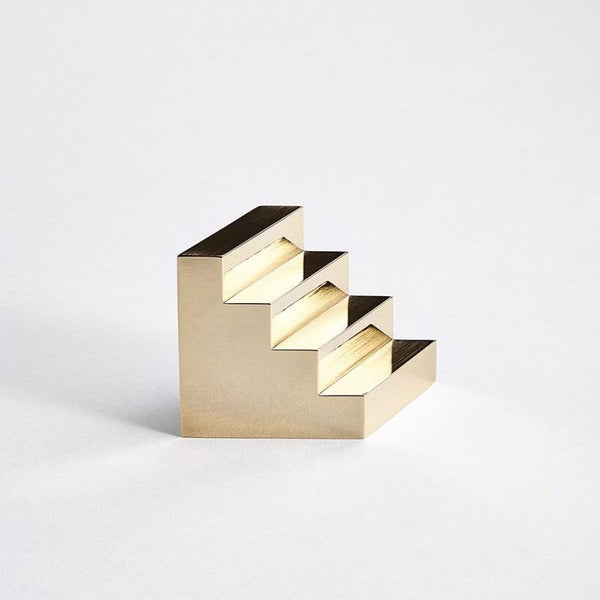 Kenny Yong-soo Son — Brass Staircase Paperweight | Sculpture - Australian made Jewellery