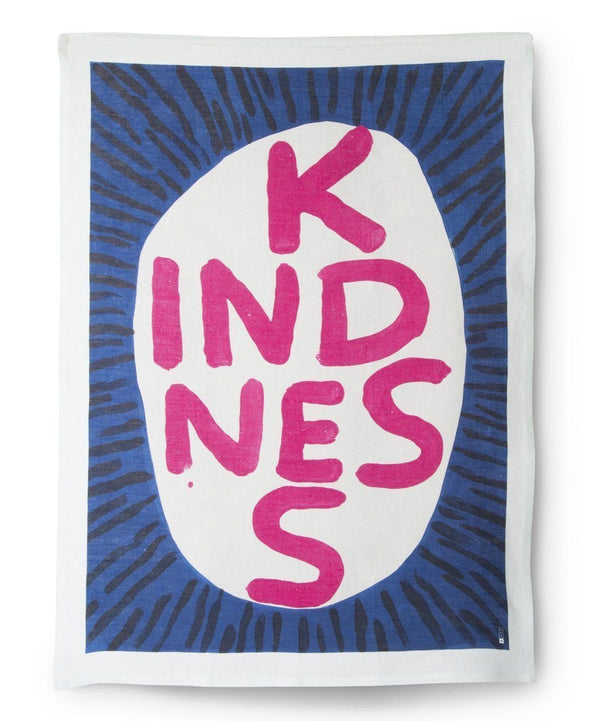 Kindness David Shrigley x Third Drawer Down Art Teatowel - Australian made Textiles