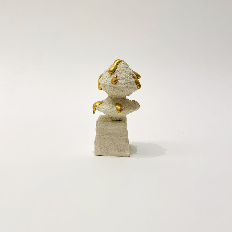 Kirsten Perry — Gold Drips Small Sculpture 2 - Australian made Ceramics
