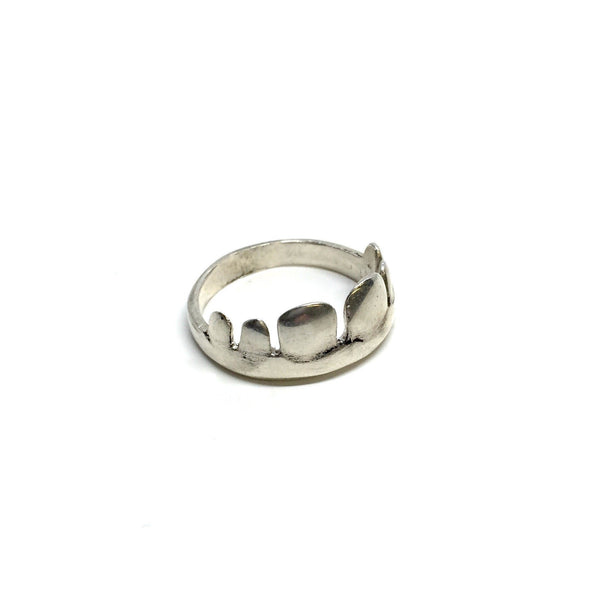 Kirsten Perry — Silver Teeth Ring - Australian made Jewellery