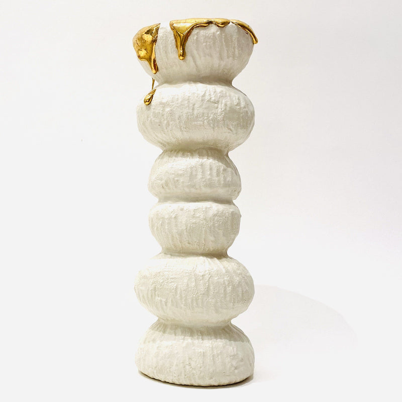 Kirsten Perry — Textured Bumps with Gold Sculpture - Australian made Ceramics