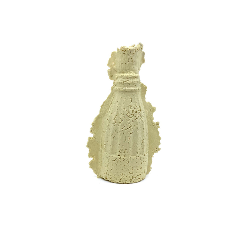 Kristin Burgham — Little Yellow 'Rocket Bottle' Sculpture - Australian made Ceramics