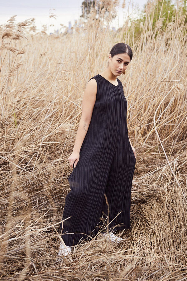 Lara Pallini — Liberté Pleated Jumpsuit - Australian made Clothing