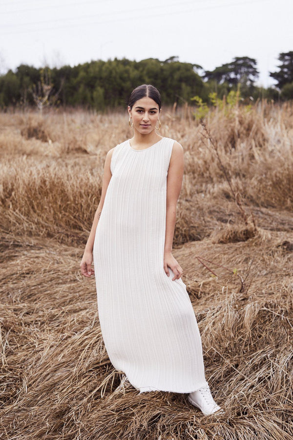 Lara Pallini — Liberté Pleated Maxi Dress - Australian made Clothing