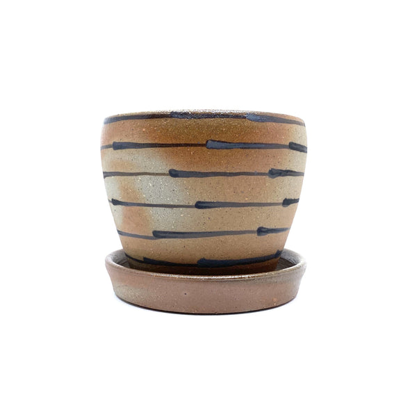Lene Kuhl Jakobsen — Small Wood Fired Stoneware Planter - Australian made Ceramics