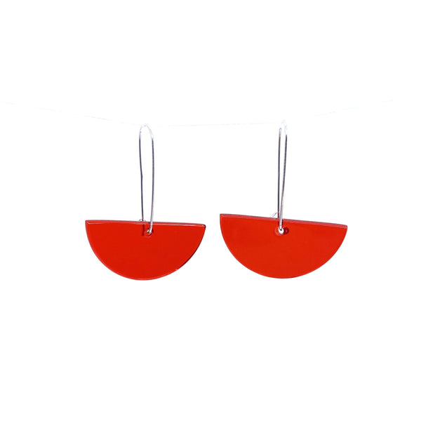 Lisa Cahill — Red Handcrafted Glass Earrings - Australian made Glass