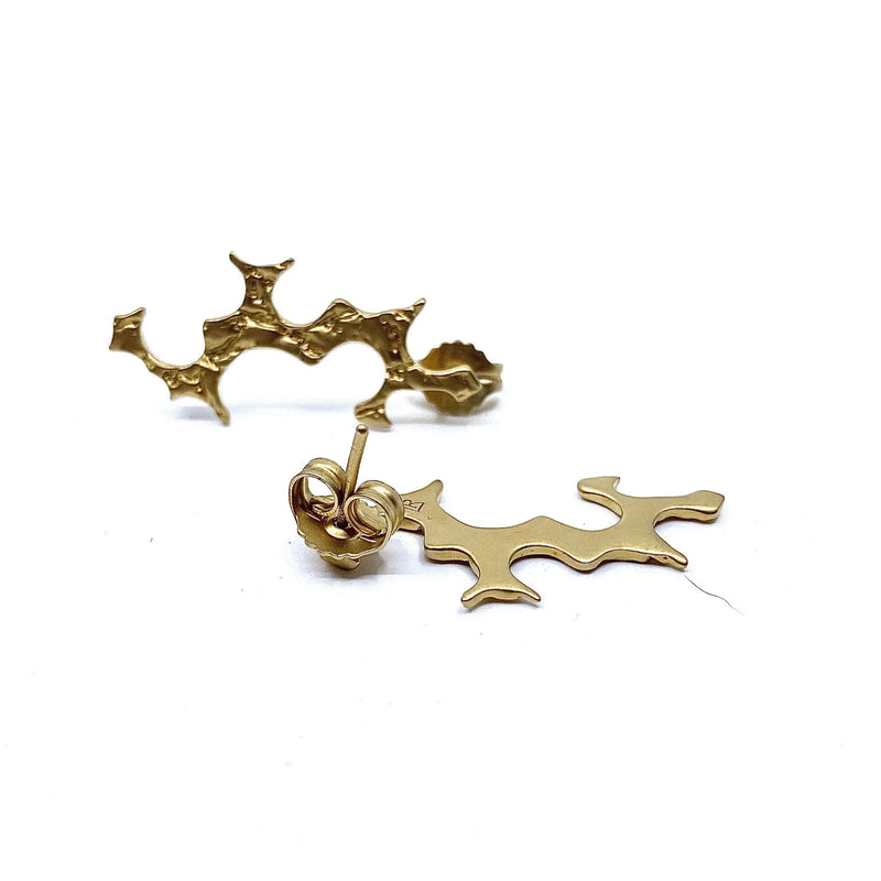 Lisa Roet — Gold Plated Silver Earrings - Australian made Jewellery