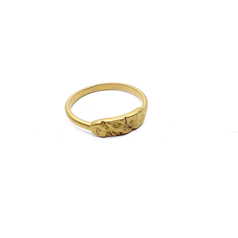 Lisa Roet — Gold Plated Silver Orangutan Ring - Australian made Jewellery