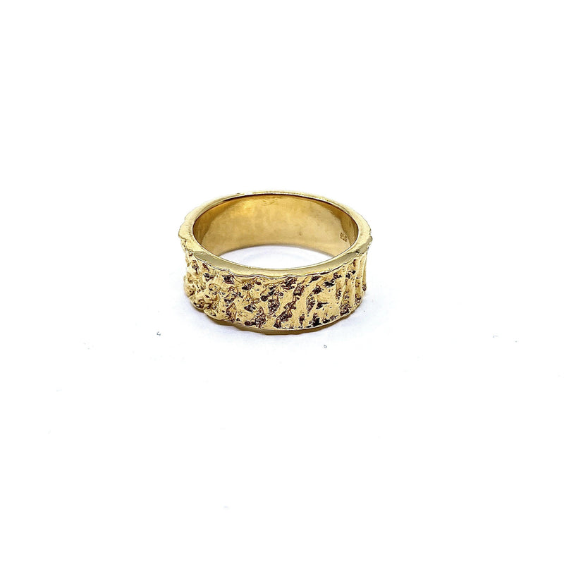 Lisa Roet — Gold Plated Sterling Silver Ring - Australian made Jewellery