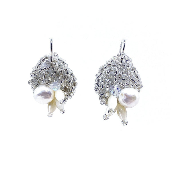Louise Meuwissen — Silver and Pearl Earrings - Australian made Jewellery