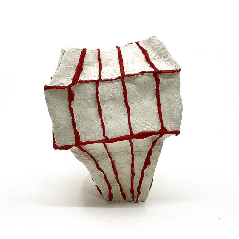 Lucy Tolan — 'Seams (Blocky Vessel)' Sculpture - Australian made Ceramics