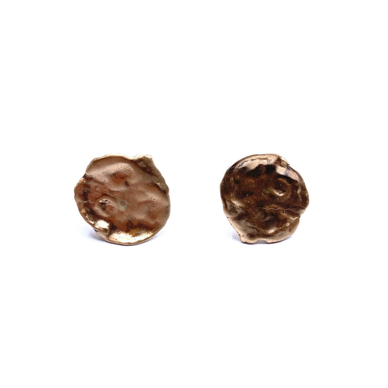Mary Odorcic — Large 9ct Rose Gold 'Keshi' Stud Earrings - Australian made Jewellery