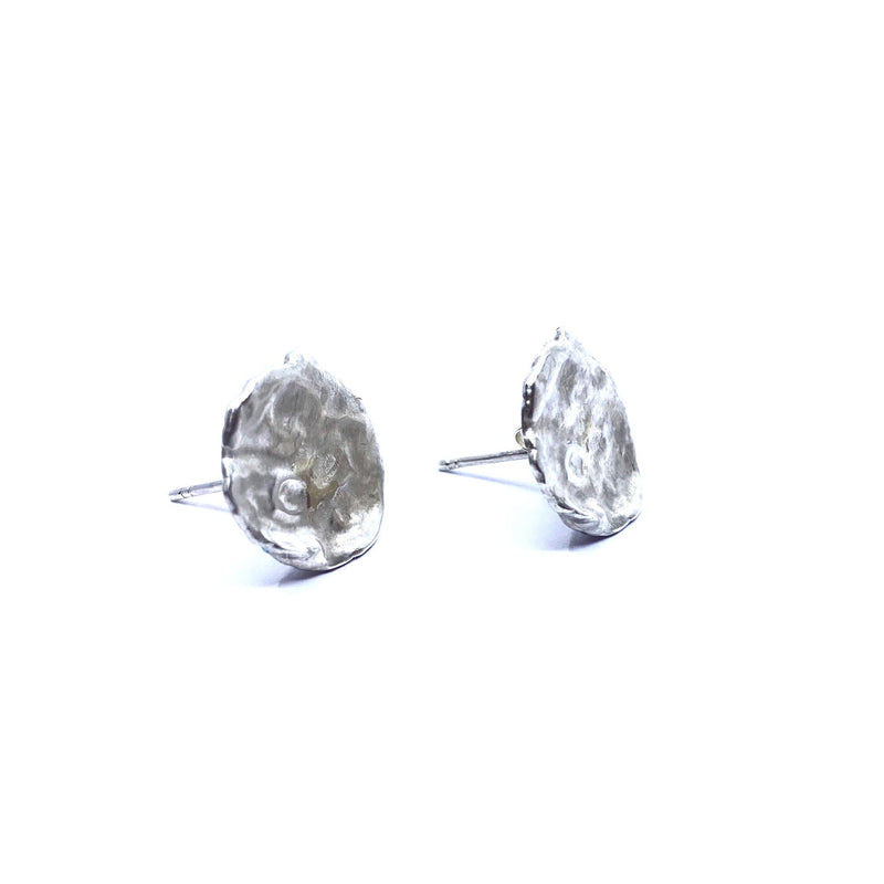 Mary Odorcic — Large Sterling Silver 'Keshi' Stud Earrings - Australian made Jewellery