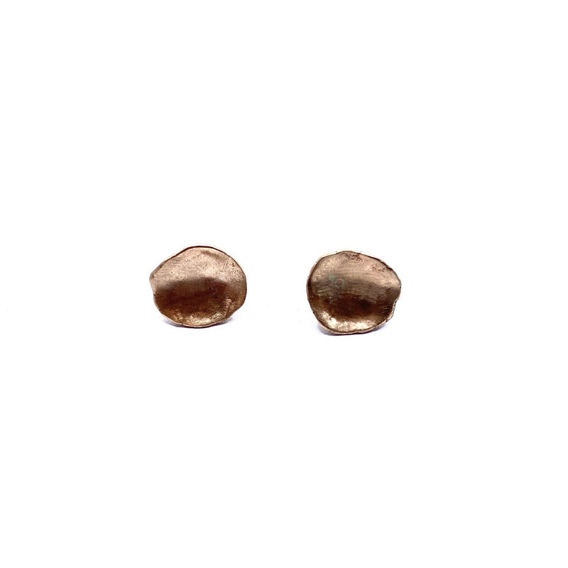 Mary Odorcic — Small 9ct Rose Gold 'Keshi' Stud Earrings - Australian made Jewellery