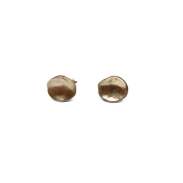 Mary Odorcic — Small 9ct Yellow Gold 'Keshi' Stud Earrings - Australian made Jewellery