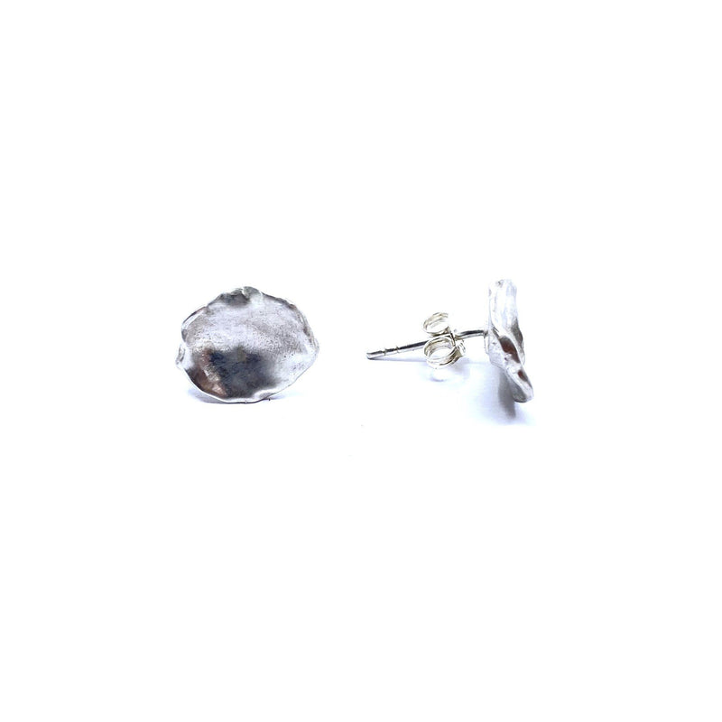 Mary Odorcic — Small Sterling Silver 'Keshi' Stud Earrings - Australian made Jewellery