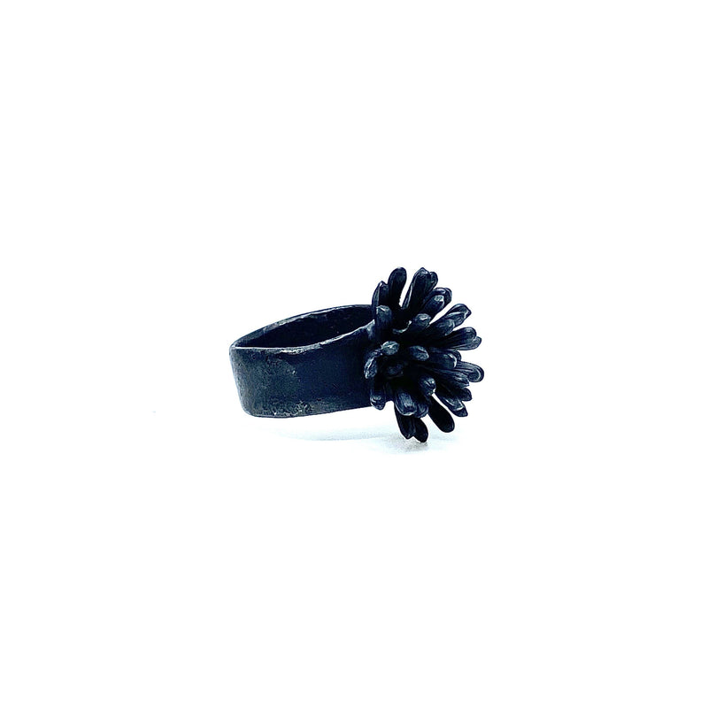 Melinda Young — Shadowlands Big Agapanthus Cluster Ring - Australian made Jewellery