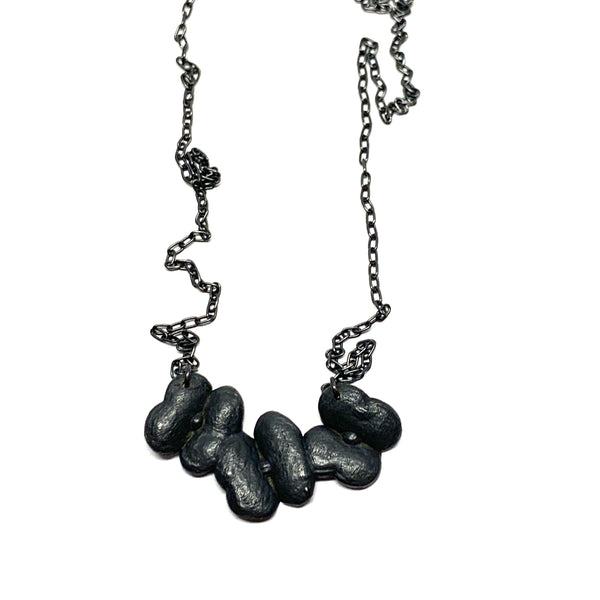 Melinda Young — Oxidised Sterling Silver Pendant - Australian made Jewellery