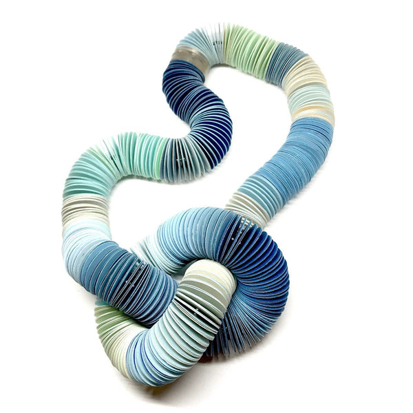 Michelle Cangiano — Blue, Mint & Cream Knotted Neck-piece Jewellery Michelle Cangiano | Craft