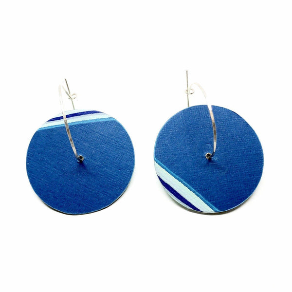 Michelle Cangiano — Pale Blue Paper Disc Hoops - Australian made Jewellery