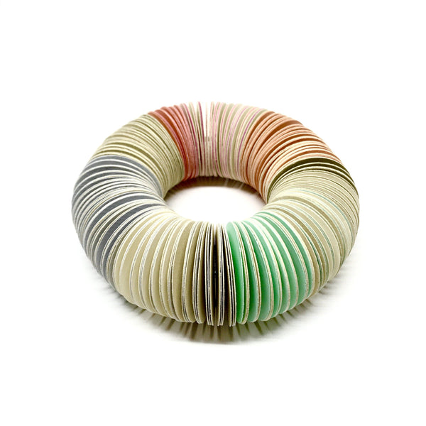 Michelle Cangiano — Pink, Peach, Mint & Cream Bangle - Australian made Jewellery