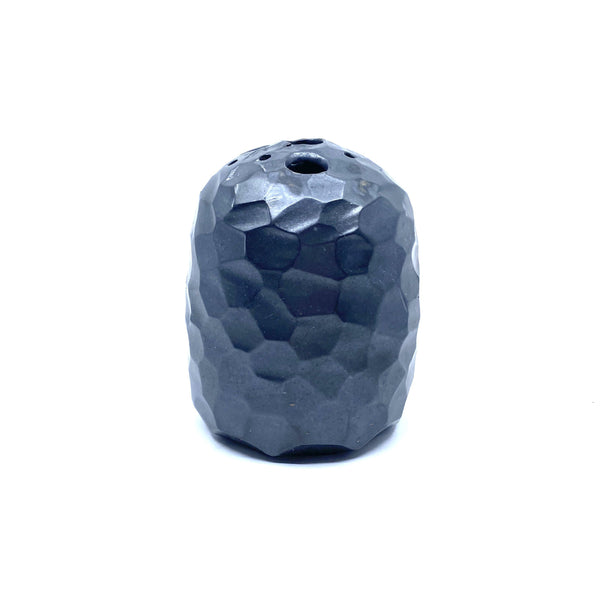Minna Graham — Large Black Faceted Vase - Australian made Ceramics