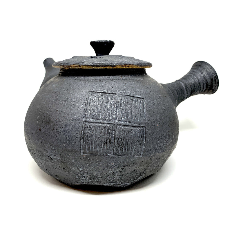 Minna Graham — Matte Black Teapot - Australian made Ceramics