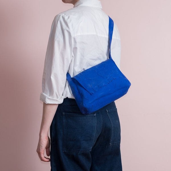Molly Younger — Handcrafted Klein Blue Post Bag - Australian made Textiles