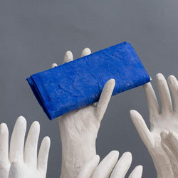 Molly Younger — Handcrafted Kleinian Blue Long Latex Wallet - Australian made Textiles