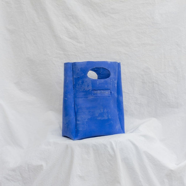 Molly Younger — Handcrafted Kleinian Blue Lunch Bag - Australian made Textiles