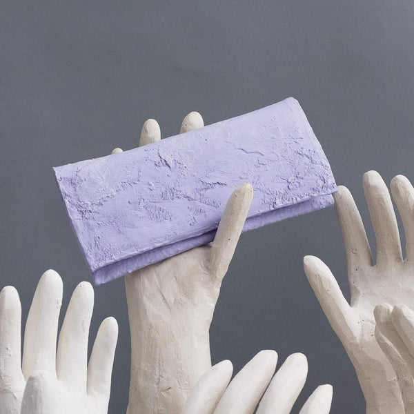 Molly Younger — Handcrafted Lilac Long Latex Wallet - Australian made Textiles